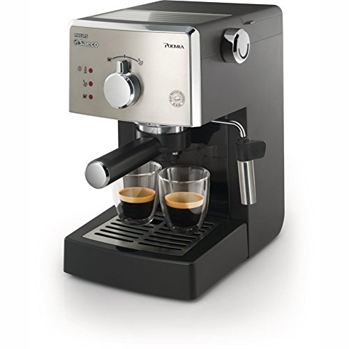 Saeco HD8325/47 Poemia Manual Espresso Machine,Stainless Steel 15 bar Black 220V & Simple English Manual