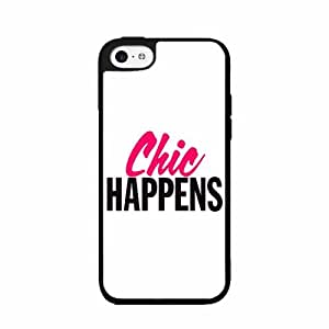 Chic Happens TPU RUBBER SILICONE Phone Case Back Cover iPhone 4 4s