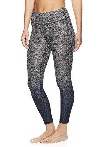 Gaiam Women's Capri Yoga Pants - Performance Spandex Compression Legging - Graystone Grey, X-Small (Grey Pants Yoga Marled)