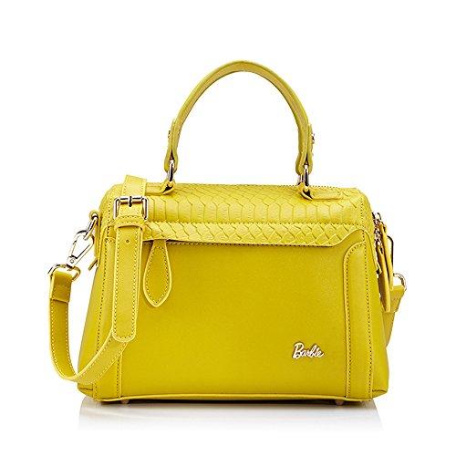 Barbie BBFB157 Bolso de Vintage Elegante Bolso de Mano Bolso Bandolera Lindo amarillo