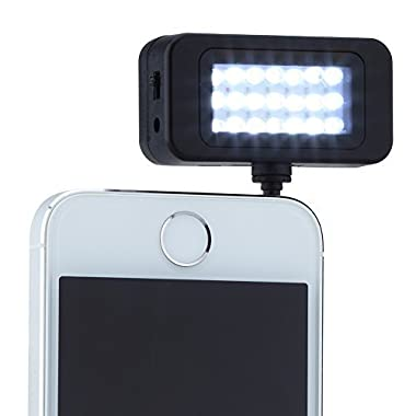 URPOWER® Universal Portable Mini Led Speedlite Flash Pocket Spotlight Video Light for iPhone Samsung HTC Nokia LG iPad iPod Cell Phones and Tablets (Black)