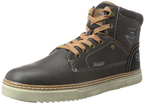 Dockers Par Des Hommes Gerli 41mc104-610 Noirs Haute Sneaker (noir / Marron)