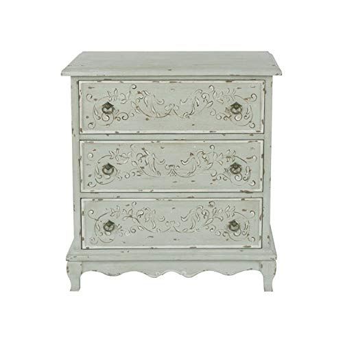 PRI Home Fare Hand Painted 3-Drawer Accent Chest in Weathered Sage Green (Painted 3 Chest Drawer)