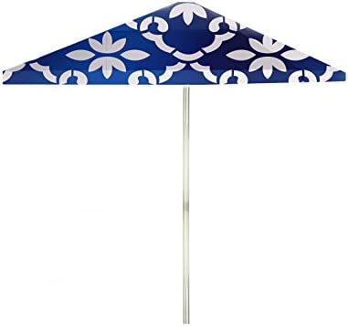 Best of Times 1020W2105-W-CBL Garden Party 8 ft Tall Square Market Umbrella