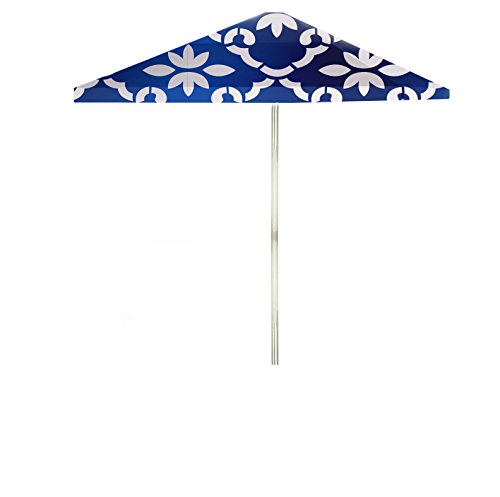 Best of Times Garden Party Large Patio Umbrella, 8', White/Celtic Blue