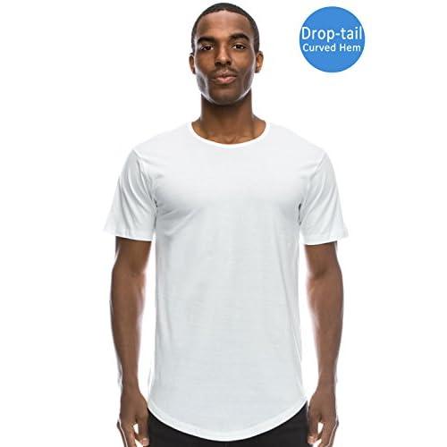 Drop Cut Curved Hem Shirt Scallop Extra Long Longline T-Shirt