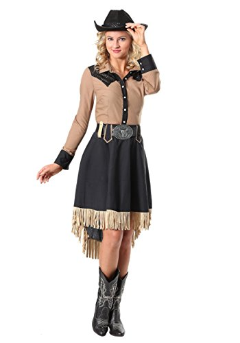 Women's Lasso'n Cowgirl Plus Size Costume 1X Black,tan -
