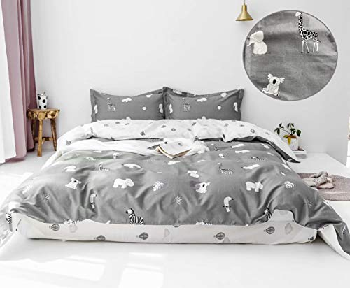 karever Kids Duvet Cover Sets Boys Koala Elephant