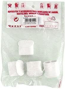 Vervi. S. L. Xxx29780 - Contera para mesa blister 4 piezas blanco: Amazon.es: Bricolaje y herramientas