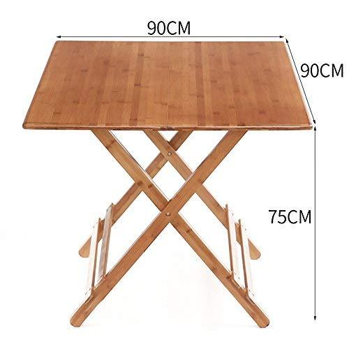 ZHAS Mesa Plegable y Mesa de Comedor de bambú Mesa de Comedor Mesa ...
