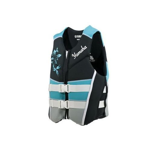 OEM Women's Yamaha Neoprene 2-Buckle Life Jacket Vest PFD Turquoise XX-Large