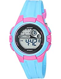 Womens 45/7079LBL Pink Accented Digital Chronograph Light Blue Resin Strap Watch