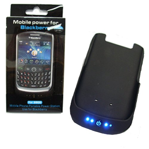8900 Battery Ion Standard Lithium (GSI Super Quality External 2000mAh Battery Pack Power Station Bank For Blackberry RIM Curve 8900 Mobile Phone With Protective Back Cover - USB Interface - For Travel Or Home Use)