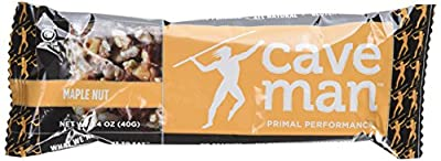 Caveman Foods Paleo Nutrition Bar, Maple Nut, 15 Count