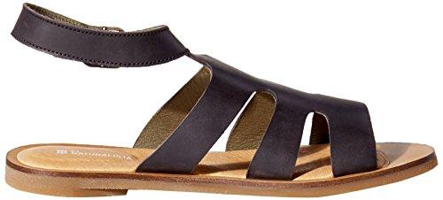 El Naturalista de la mujer NF34Tulip Flat Sandal Negro