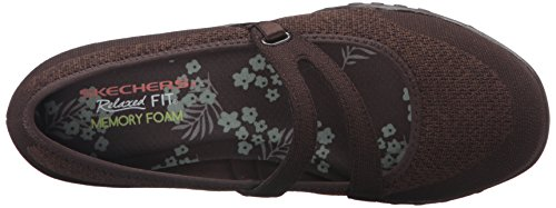 Flat Chocolate Jane Sport Lovestory Breathe Women's Easy Mary Skechers 8Hw0Rpqq