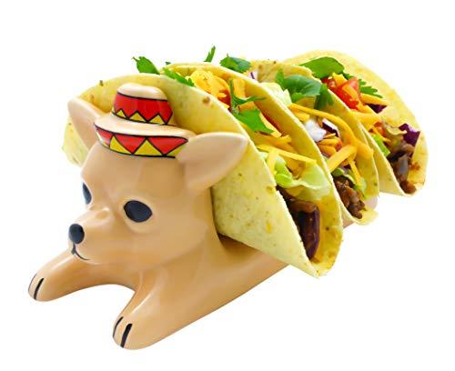 Ceramic Taco Holder - Tacos Serving Tray for Children ()