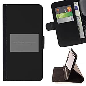 DEVIL CASE - FOR Apple Iphone 6 - Poster Grey Black Minimalist Text - Style PU Leather Case Wallet Flip Stand Flap Closure Cover