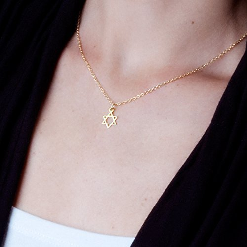 Gold Filled Star of David Necklace - Jewish Magen David Handmade Jewelry 16 inch + 2 inch (Small Star Of David Pendant)