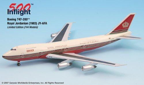 ALIA ROT Schemed JY-AFA 747-200 Airplane Miniature Model Die-Cast 1:500 Part  A015-IF5742006
