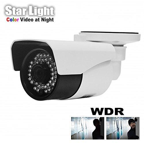HDView H.265 StarLight WDR HD 3MP Megapixel IP Network Camera PoE 3.6mm Fix Lens IR Infrared Bullet ONVIF [並行輸入品] B01MY46TCI