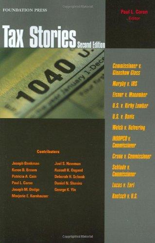Tax Stories (Law Stories)