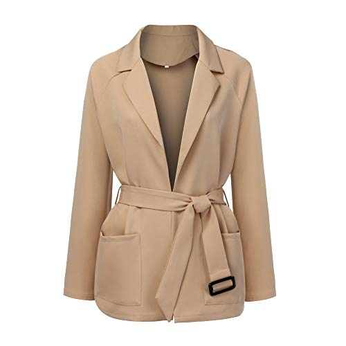 YKARITIANNA Women Soft Comfy Autumn Winter Jacket Fleece Tees Long Sleeve Fashion Waist Oversize Jacket Windbreaker Coat
