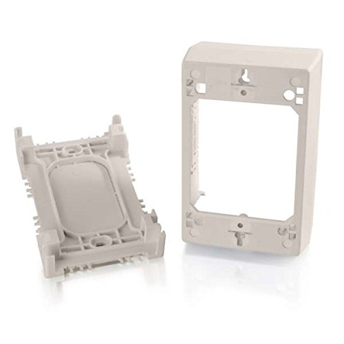 C2G/Cables to Go 16133 Wiremold Uniduct Single Gang Deep Junction Box, Fog White - Junction Box Adapter