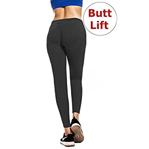 RUNNING GIRL Butt Lift Leggings Scrunch Butt Push Up Leggings Yoga Pants for Women Shapewear Skinny Workout Tights Navy-Blue