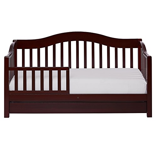 Dream On Me Toddler Day Bed with Storage Drawer, Cherry - Toddler Daybed Bedding