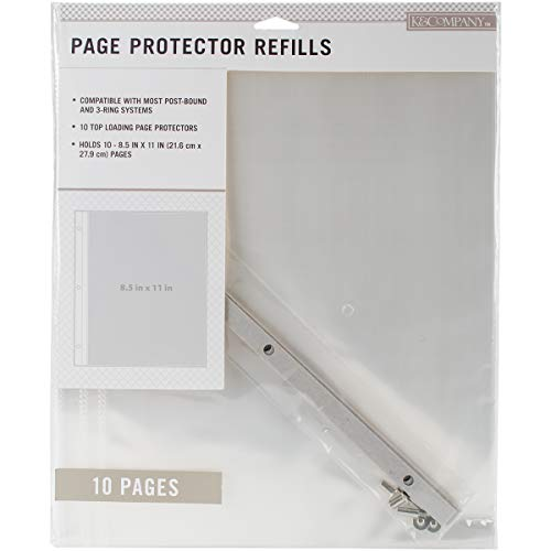 K&Company 30-705395 Post Bound Scrapbook Album Page Protector Refill Pack, Multicolor ()