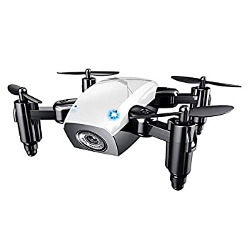 New Micro Foldable Drone Dron Speed Switch RC Quadcopter Headless Mode One Key Return Quadcopters RTF Gifts for Friends,White