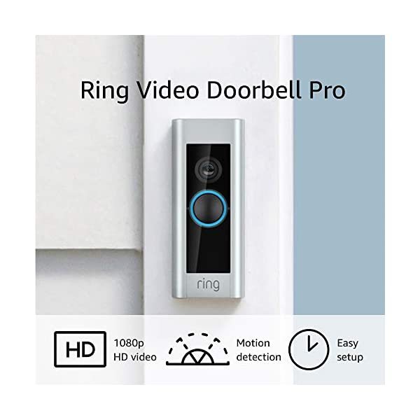 Ring Video Doorbell Pro, with HD Video, Motion Activated Alerts, Easy Installation (existing doorbell wiring required) 1