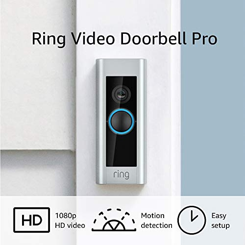 Ring Video Doorbell Pro, with HD Video, Motion Activated Alerts, Easy Installation (present doorbell wiring required)