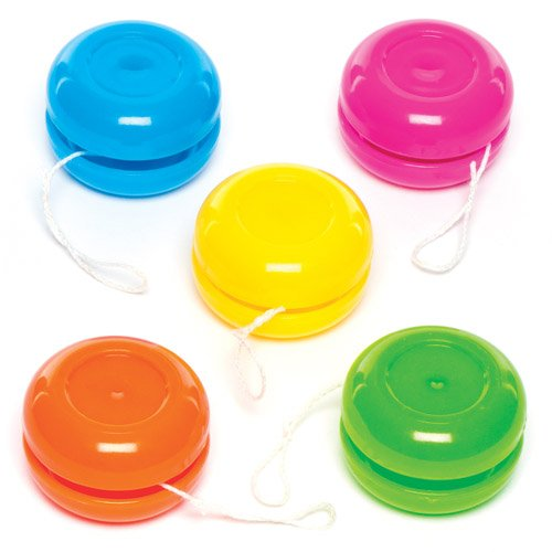 Baker Ross Mini-yoyos pour Enfant - Jouets Parfaits pour Les Pochettes-Surprises des Enfants (Lot DE 8)