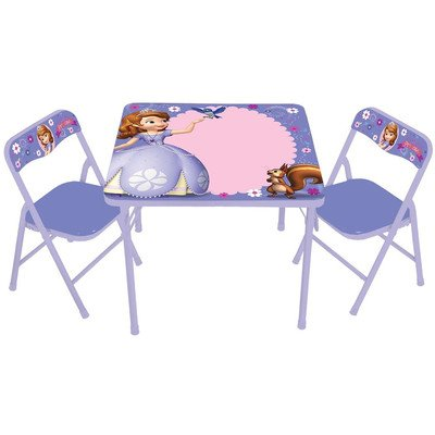 Sofia The First Erasable Kids Square Activity Table (Kids First Chair)