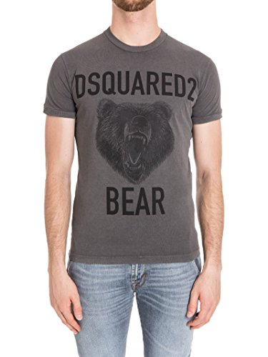 Dsquared2 Herren S74GD0289S20694816 Grau Baumwolle T-Shirt