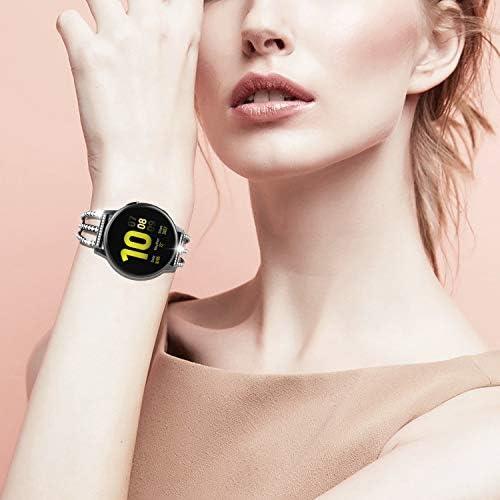TiMOVO Replacement Band Compatible with Galaxy Watch Active/Active 2, 20mm Stylish Rhinestone Watch Replacement Strap Fit Galaxy Watch 42mm/Gear Sport/Garmin Vivomove/HR/Vivoactive 3 – Black 412sU5lHrhL