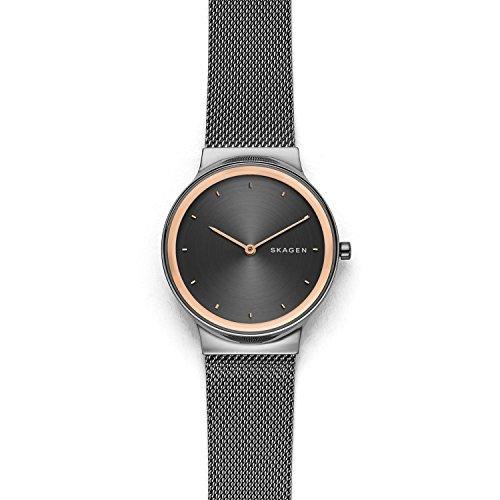Skagen Women's Freja Dark Gray Steel-Mesh Watch - SKW2707