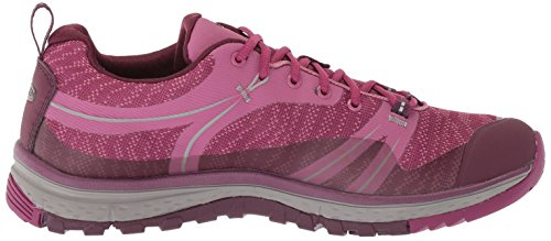 Keen Terradora WP, Chaussures de Randonnée Basses Femme, Gris, 8.5 EU Boysenberry/Grape Wine