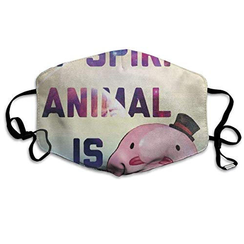 zhigang My Spitit Animal Blobfish Anti Pollution Respirator Dust Mask Cotton Reusable Face Mouth Mask Fashion for Men Women