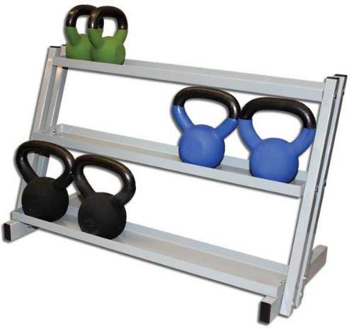 Kettlebell Storage Rack, Floor Stand, 250 Lb. Cap., Gray Finish by River's Edge Products