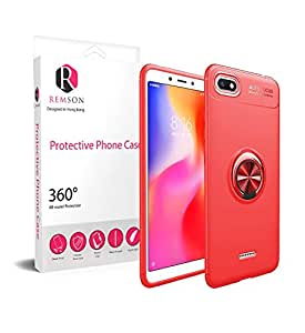 Xiaomi Redmi 6A Ring Series Shock Absorption Soft TPU Back Case Cover - Red