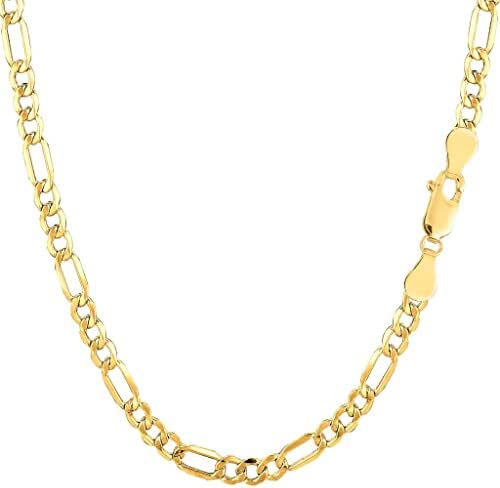 14K Yellow Gold 1.7mm wide Diamond Cut Singapore Chain with Spring Ring Clasp