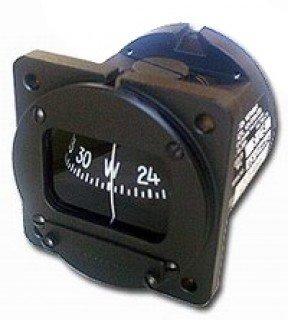 """航空計器 コンパス (COMPASS) 2-1/4"""" 12V ライト付き"""