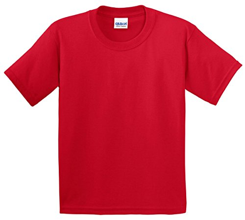 Gildan boys Ultra Cotton T-Shirt(G200B)-CHERRY RED-S - Small Red Cherry