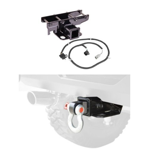 Rugged Ridge Receiver Kit with Wiring Harness & Shackle Bracket (2007 Jeep Tow Rating)