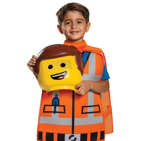 Disguise Halloween Costume, Emmet Toddler with Half Mask, Foam Overlay and Pair of Hands]()