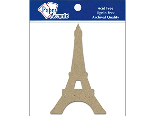Accent Design Paper Accents Chip Shape 8pc Eiffel Tower ChipShapeEiffelTower