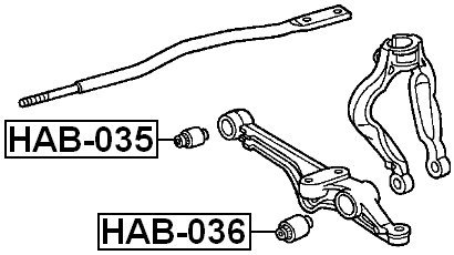 For Honda Arm Bushing for Front Lower Control Arm 51393Sv1A01